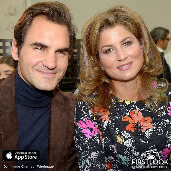 Mirka Federer and Roger Federer at the Louis Vuitton - Paris Fashion Week 2017