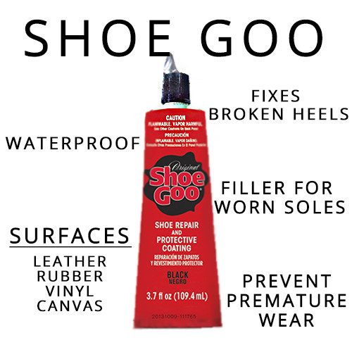 Instead of trying to fix your shoes with super glue, use shoe goo.