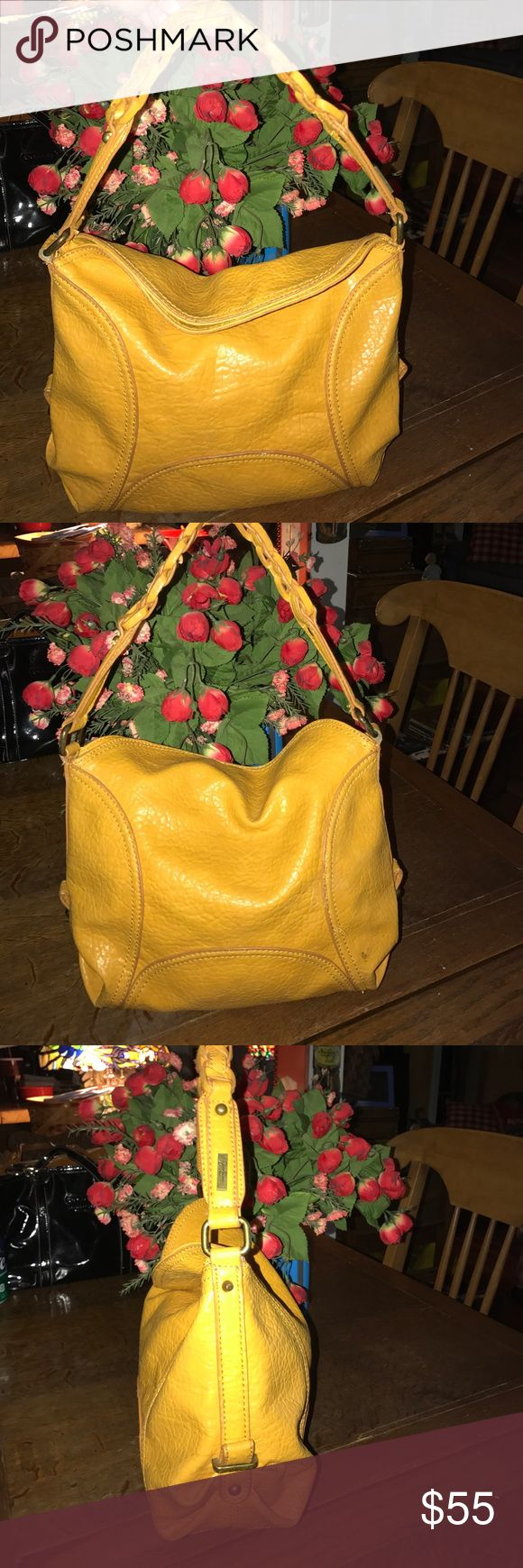 "Jessica Simpson Mustard color handbag Cute Jessica Simpson shoulder bag ! 14x12x4 with 8"" shoulder drop Jessica Simpson Bags Shoulder Bags"