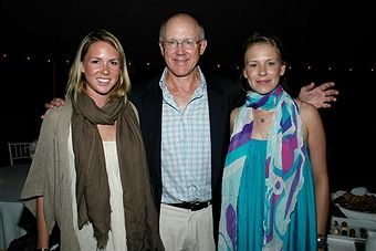 Daisy Johnson, Woody Johnson and Jaime Johnson attend After Party Dinner For First Look Studios KING OF CALIFORNIA at Home of Suzanne Ircha and Woody Johnson on August 19, 2007 in East Hampton, NY. August 20, 2007