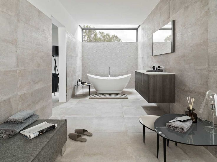 Baldosa de baño / de pared / de cerámica / pulida NEWPORT GRAY Porcelanosa