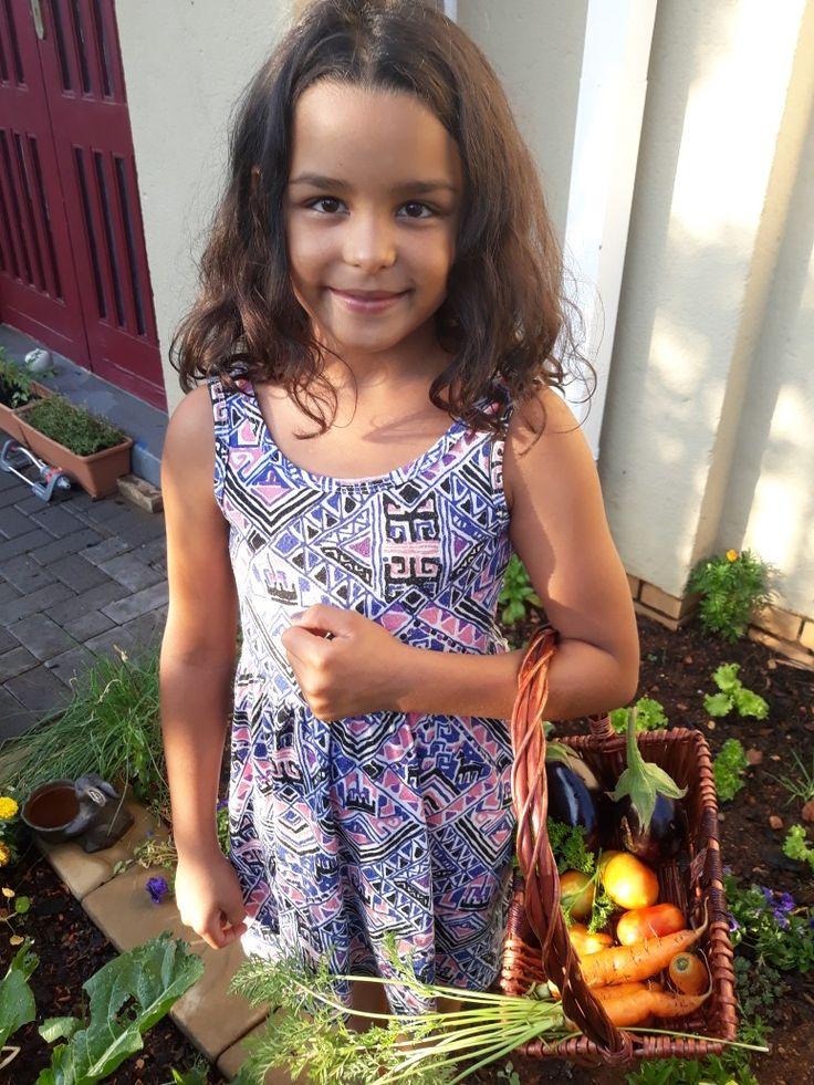 My little helper / aspiring gardener