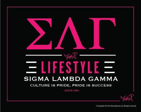 Sigma Lambda Gamma Lifestyle Poster