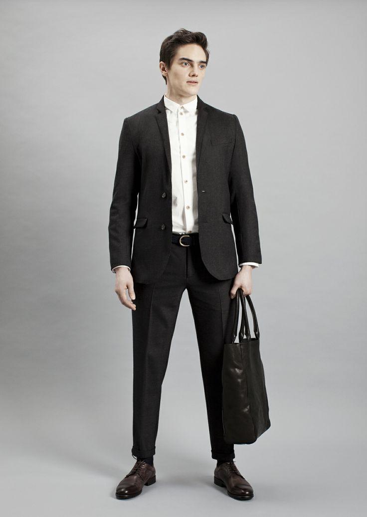 Tela Shirt, Papito Blazer, Presiosa Trousers and Tote Bag | Samuji Men Fall Winter 2014 Collection