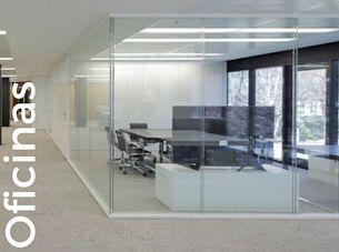 Mobiliario oficinas: mesa reuniones, mesas operativas, despachos dirección, mamparas de vidrio, mobiliario de pared, lámparas con panel fonoabsorbente, soluciones acústicas, sofás, butacas, mobiliario con soluciones de conectividad, sillas oficina, estanterías, buk y más.
