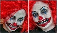 Caras Pintadas para Chicas, Diseño Payaso Diabolico, Arte y Diversion para Halloween