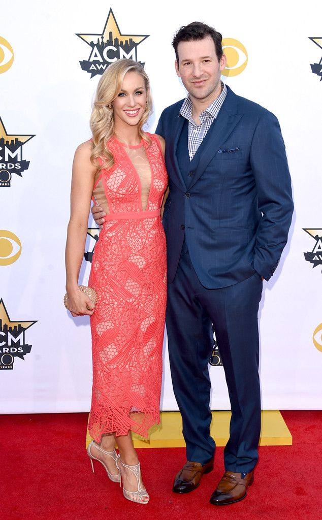 Candice Crawford & Tony Romo from 2015 ACM Awards Red Carpet Arrivals | E! Online