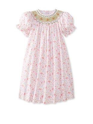 64% OFF Viva La Fete Kid's Smocked Daisy Bishop Dress (Pink)