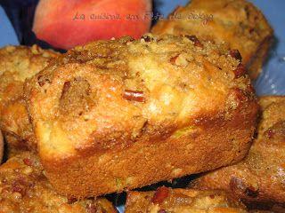 La cuisine en fête de Sakya: Muffins aux pêches, mangues et aux pacanes praliné...