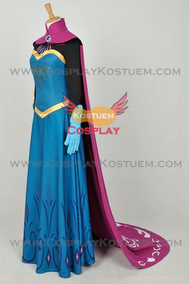 Die Eiskönigin Völlig unverfroren Cosplay Die Schnee Königin Prinzessin Elsa Krönung Umhang Kleid Kostüm