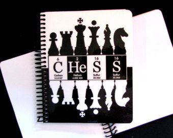 Chess Journal Notebook ElementeesTM for the nerd in you