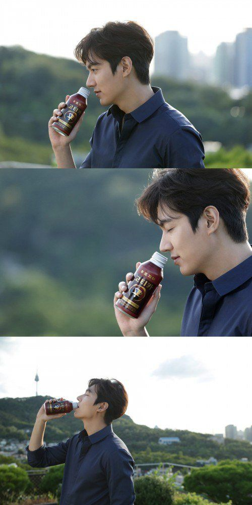 Lee Min-ho, a fall guy in a coffee commercial @ HanCinema :: The Korean Movie and Drama Database