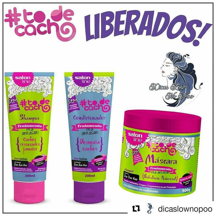 #Repost @dicaslownopoo with @repostapp ・・・ Linha de Tratamento Salon Line Pra Arrasar - Cachos Ressecados Jamais!  ㅤ  Shampoo - Low Poo . Condicionador e Máscara - No Poo. ㅤ  Ideal para cabelos cacheados, crespos, crespíssimos ou em transição. Livre de sulfatos, PARABENOS, silicones e ÓLEO MINERAL. ㅤ  Com óleo de coco extra virgem, manteiga de oliva e D-Pantenol, que promove hidratação de longa duração, maciez e brilho, ㅤ O Shampoo Tratamento para Arrasar Salon Line limpa e não resseca os…