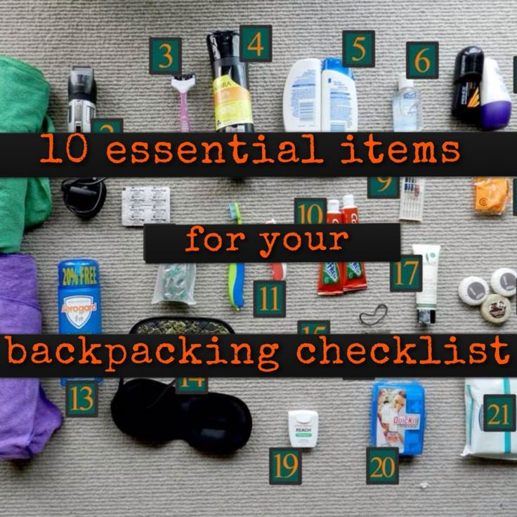 Backpacking Tips - 10 Essential Items most travellers forget to take backpacking