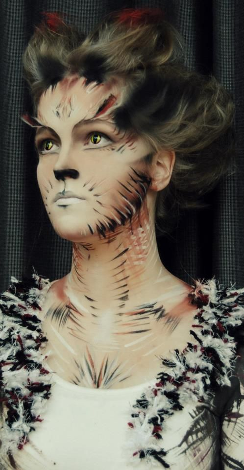 Candy make up artist  @ make up school  Exam Cats! — with Sophie Spakman.