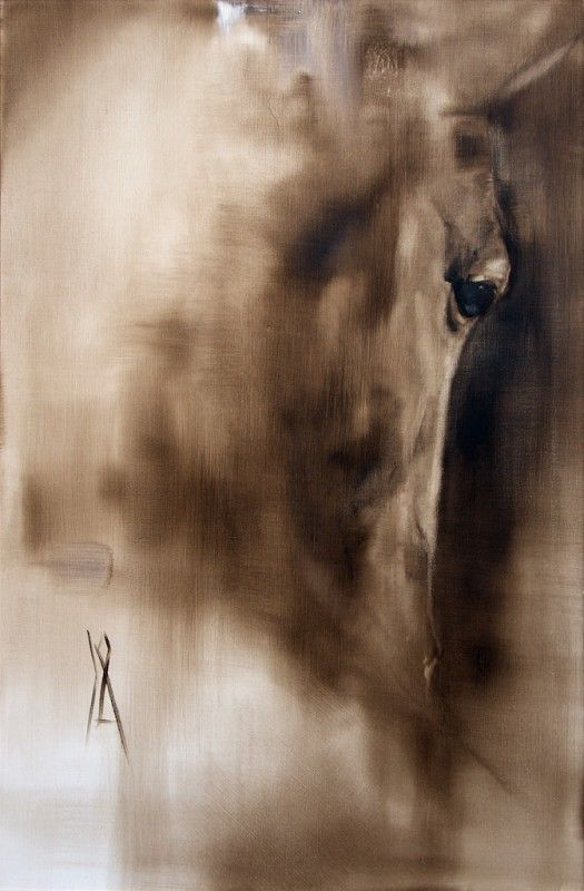 Can you feel his presence? Amazing horse art by Katja Hannula