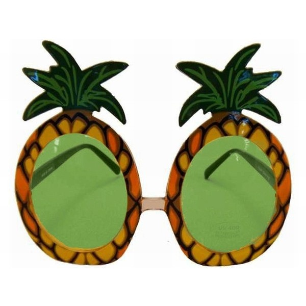 Fruity-licious Pineapple Party Sunglasses Glasses Green ❤ liked on Polyvore