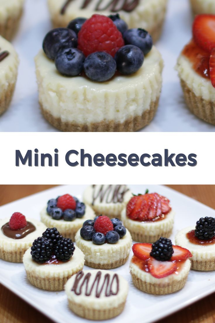 Mini Cheesecakes Recipe In The Kitchen With Matt Recipe Mini Cheesecakes Cheesecake Recipes Mini Cheesecake Recipes