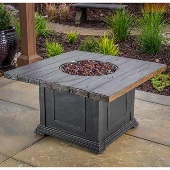 veranda classics woodside propane fire pit table
