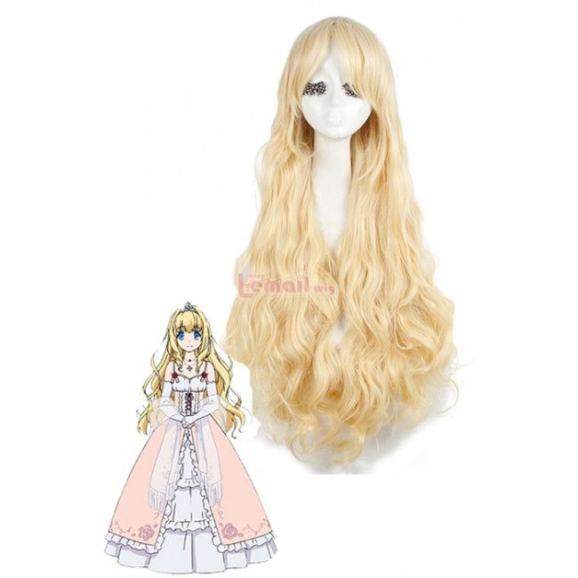 90cm Long Wave Amagi Brilliant Park Latifah Fullanza Cosplay Wig