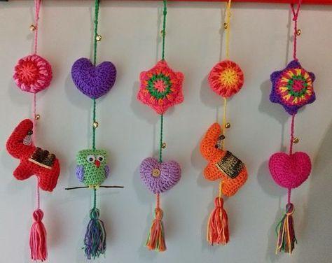 colgantes crochet paso a paso - Buscar con Google