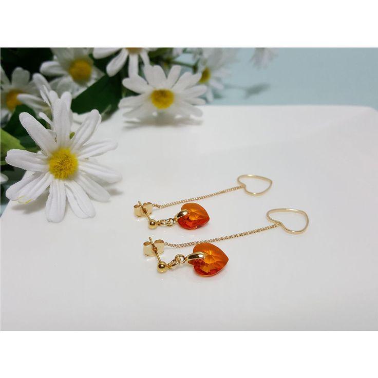 Korean Fashion Jewelry New Lovely Heart Drop Earring for Women Girls Ladies #Rielar #Stud