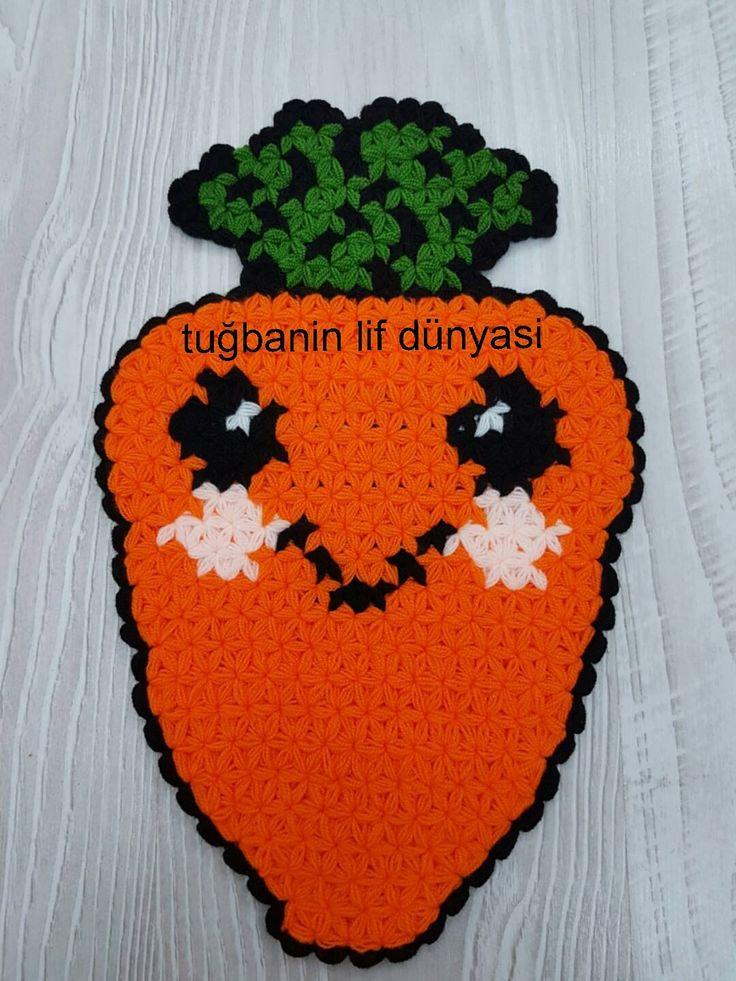Havuç Lif Örneği Yapılışı #lif #knitting #ceyiz #örgü #elisi #hobi