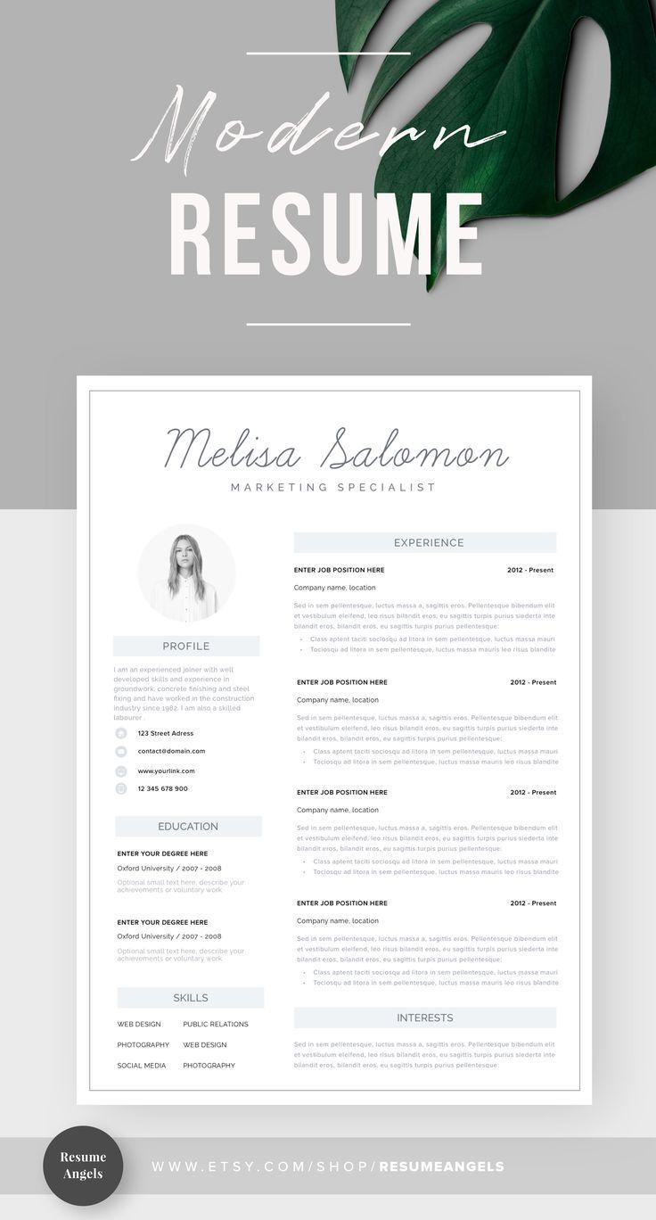 Epingle Sur Creative And Professional Resume Templates