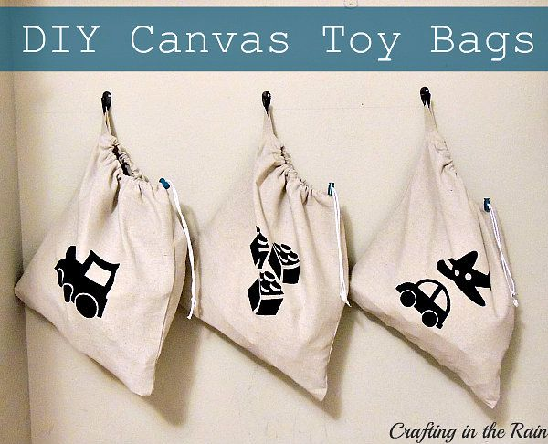 Drawstring Toy Bags   Crafting in the Rain