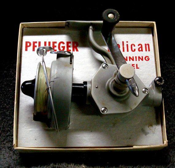 Fishing Reel PFLUEGER PELICAN Spinning Reel No by theowlsnestofnc, $85.00