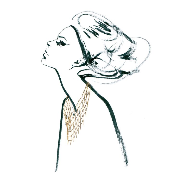 Necklace from ASTRO collection by Anna Orska. Illustrated by Anna Halarewicz