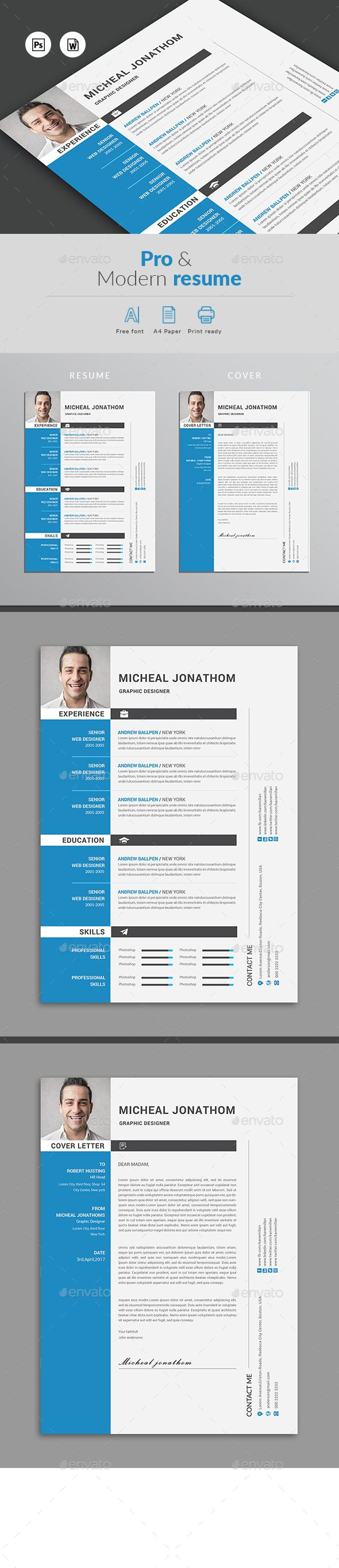 Resume #cv template #resume creative  • Download here → https://graphicriver.net/item/resume/20888232?ref=pxcr