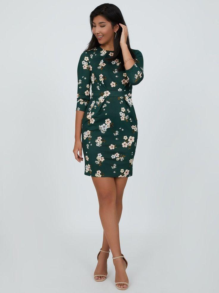 Embroidered Pintuck Mini Dress   Mini dress, Dresses