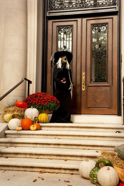 autumnhalloween decor traditional porch other metro by mary prince photography - Cheap Easy Halloween Decorations