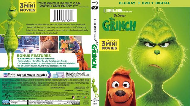The Grinch Bluray Cover Blu Ray Grinch Dvd Covers