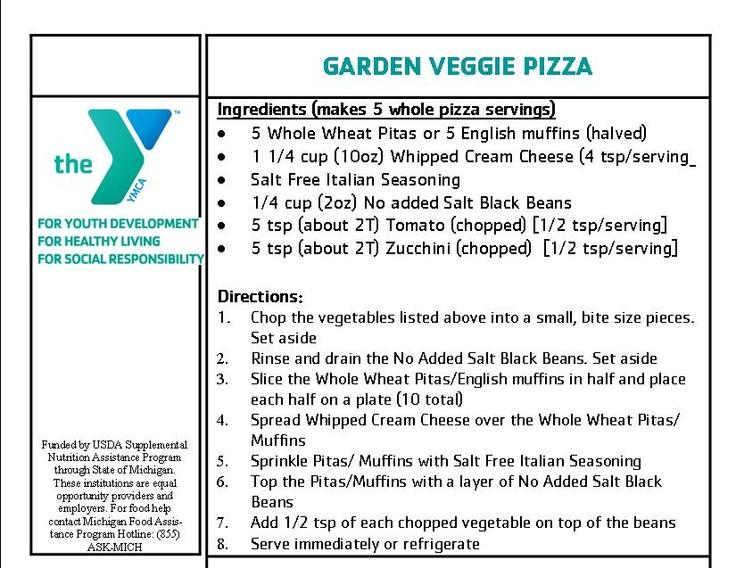 Garden Veggie Pizza - YMCA Nutrition in ActionMaster Gardens, Ymca Nutrition, Veggies Pizza, Gardens Veggies, Healthy Recipe, Veggie Pizza, Junior Master, Healthy Living