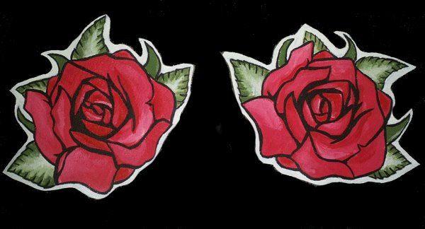 Leather patch Smalls Roses/ parche de cuero de OmahaBeach en Etsy