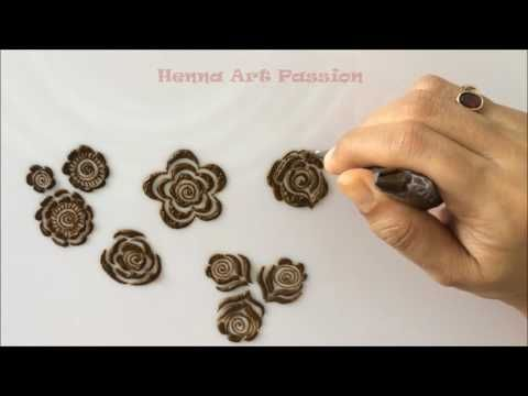 embellishment 5 : learn quick and easy gulf roses and leaf - YouTube