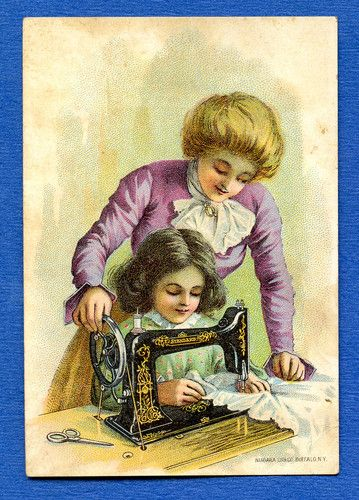 "Vintage ""Standard Rotary Shuttle Sewing Machine"" Advertising Trade Card"