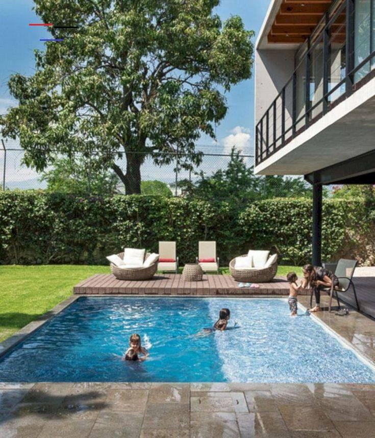 40 Beauty Small Design Ideas Swimming Pool 40 Beauty Small Design Ideas Swimming Pool 43 Bea Backyard Pool Swimming Pools Backyard Backyard Pool Landscaping
