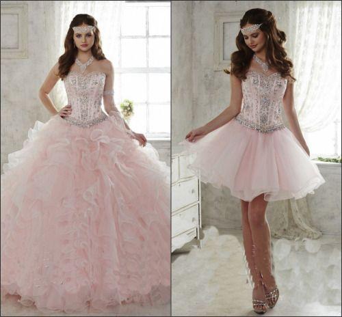 vestidos-novia-fiesta-noche: Vestidos de 15 años Desmontables...