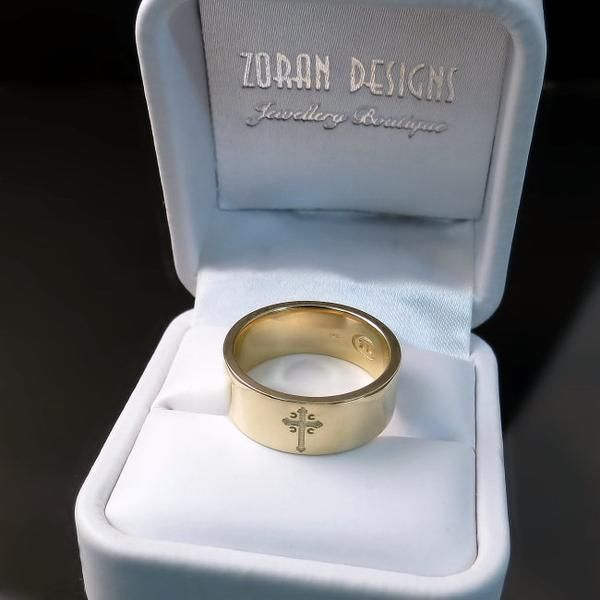 Serbian Cross Ring Serbian Wedding Band Serbian Wedding