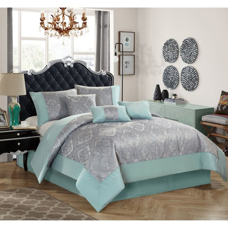 17 Best Ideas About Mint Comforter On Pinterest