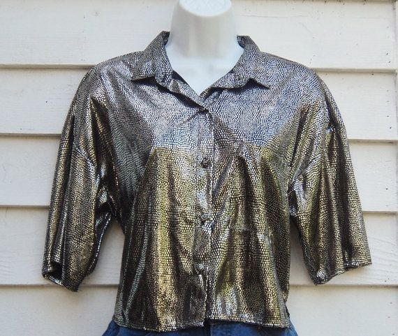 Cropped Top Club Kid 90s Silver Shirt by oxNOWorNEVERxo on Etsy