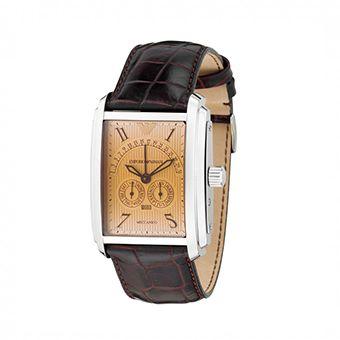 Emporio Armani Mens Meccanico Leather Strap AR4205