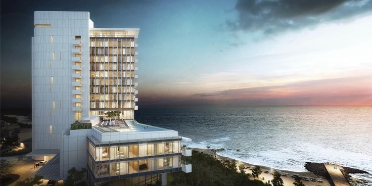 Resort Hotel and Spa Proposal / Richard Meier  Partners I love this rendering - realistic but artistic at the same time.