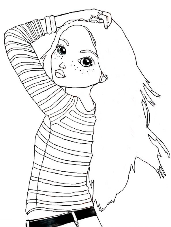 Ausmalbilder Topmodel Lexy Fashion Coloring Model Coloring Book