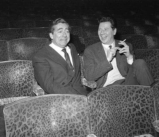 Tony Hancock and Max Bygraves 1958 Royal Variety rehearsals
