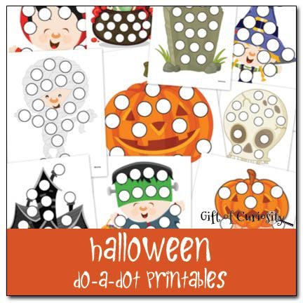 preschool Halloween do a dot printable worksheets (perfect for building fine motor skills)