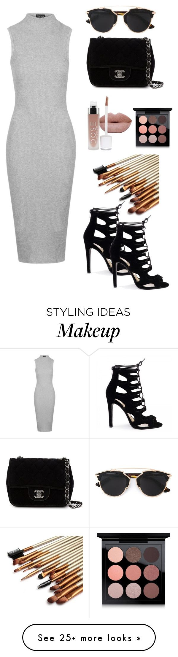 """""""Untitled #10"""" by jessicabongalon on Polyvore featuring Topshop, Christian Dior, Chanel and MAC Cosmetics"""